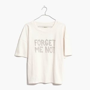 NWT Madewell Forget Me Not Graphic Easy Crop Tee